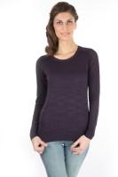 Again Solid Round Neck Casual Women's Sweater - SWTDXU3APURYNWGQ