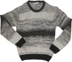 People Self Design Round Neck Casual Boy's Sweater