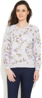 Mintygogo Floral Print Round Neck Casual Women's Sweater