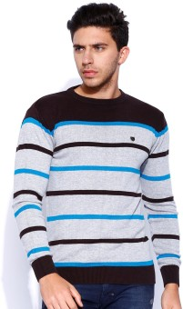 Proline Self Design Round Neck Casual Men's Sweater
