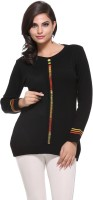 Madrona Solid Round Neck Casual Women's Sweater - SWTEFUNKAT4VJ5HQ