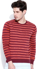United Colors of Benetton Striped Round Neck Men's Sweater