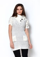 Fashley London Solid Turtle Neck Casual Women's Sweater