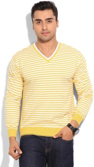 Peter England Striped Casual Men's Sweater