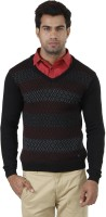 Arrow Checkered V-neck Formal Men's Sweater