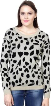Van Heusen Self Design Round Neck Women's Sweater
