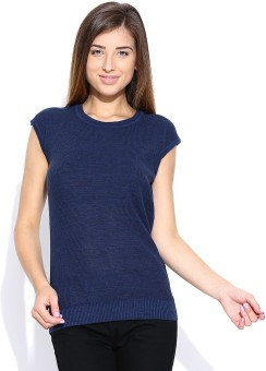 Levis Woven Round Neck Casual Women's Sweater