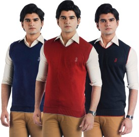 Eprilla Solid V-neck Casual, Formal, Festive Men's Sweater