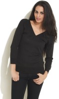 Sepia Solid V-neck Casual Women's Sweater