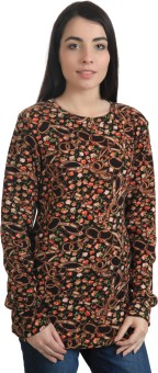Rute Floral Print Round Neck Casual Women's Sweater