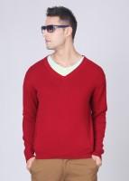 Indian Terrain Solid V-neck Casual Men's Sweater - SWTDP9BEZGXRHZ5G