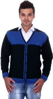 Cobb Casual Striped V-neck Casual Men's Sweater