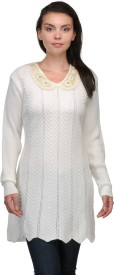 Belle Solid V-neck Casual Women's Sweater