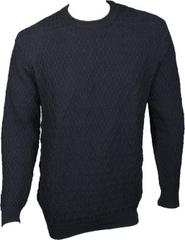 Elson Self Design Round Neck Casual Men's Sweater