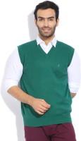 Indian Terrain Solid V-neck Casual Men's Sweater - SWTDZZHQUWRBTZKY