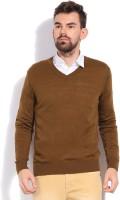 Indian Terrain Solid V-neck Casual Men's Sweater - SWTDZZHQ4FXG6EHS