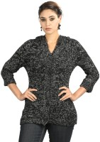 StyleToss Printed V-neck Casual Women's Sweater