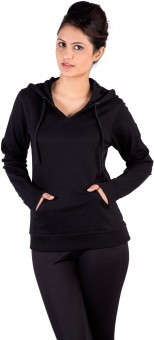 De Moza Full Sleeve Solid Women's Sweatshirt