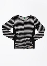 United Colors of Benetton Full Sleeve Striped Girl's Sweatshirt
