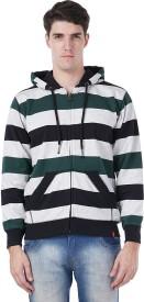 Wake Up Competition Full Sleeve Striped Men's Sweatshirt