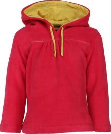 Nino Bambino Full Sleeve Solid Baby Girl's Sweatshirt