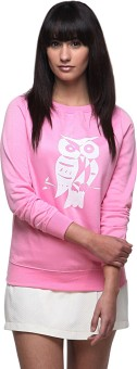 Yepme Pink Full Sleeve Graphic Print Women's Sweatshirt