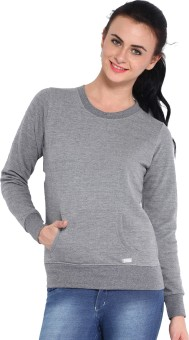 Espresso Winter Wear Full Sleeve Solid Women's Reversible Sweatshirt - SWSE3Z5F9CFFVGF6
