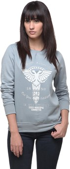 Yepme Grey Full Sleeve Graphic Print Women's Sweatshirt