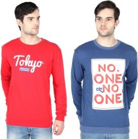 Threads & Pals Full Sleeve Printed Men's Sweatshirt