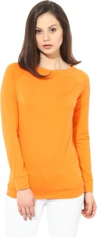 T-shirt Company Full Sleeve Solid Women's Sweatshirt - SWSEASYJM4QH9QEG