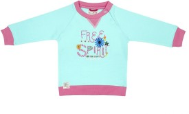 Wowmom Full Sleeve Printed Baby Girl's Sweatshirt