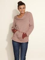 Esprit Full Sleeve Striped Women's Sweatshirt