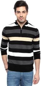 Allen Solly Striped V-neck Casual Men's Sweater