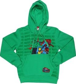 Marvel Comics Full Sleeve Printed Boy's Sweatshirt