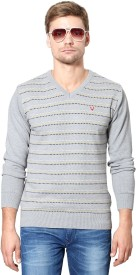 Allen Solly Woven V-neck Sports Men's Sweater