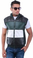 Oceanic Sleeveless Solid, Striped Men's Sweatshirt