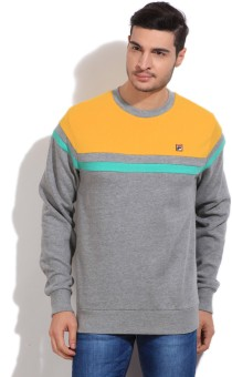 Fila Full Sleeve Striped Men's Sweatshirt