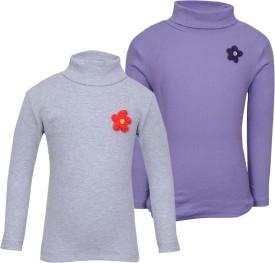 Bio Kid Full Sleeve Solid Girl's Sweatshirt