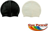 Gee Power Imported (Set Of 2) Swimming Cap (Black, White, Pack Of 2)
