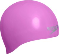 Speedo Plain Moulded Silicone Swimming Cap (Pink, Pack Of 1)