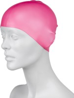 Speedo Plain Moulded Silicone Junior Swimming Cap (Pink, Pack Of 1)