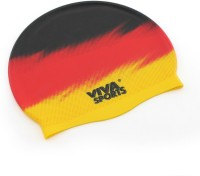 Viva Sports Country Germany Swimming Cap (Yellow, Red, Black, Pack Of 1)