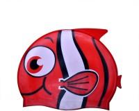Swimcart SWIMMING CAP FOR KIDS Swimming Cap (Red, Pack Of 1)