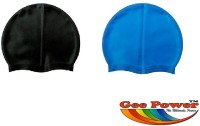 Gee Power Imported (Set Of 2) Swimming Cap (Black, Blue, Pack Of 2)