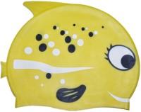Swimcart YELLOW COLOR FISH PRINT FOR KIDS Swimming Cap (Yellow, Pack Of 1)