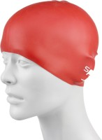 Speedo Plain Moulded Silicone Junior Swimming Cap (Red, Pack Of 1)