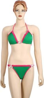 FIHA Lace Triangle Bikini Solid Women's - SWIEH5XYGPHZUXPH