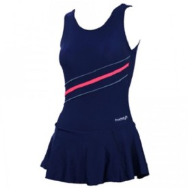 Freestyle Frock Style Swimwear With Bloomer Striped Women's