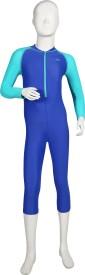 Speedo Color Block All in 1 Suit Solid Girl's