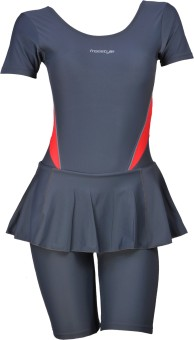 Freestyle Frock With Knee Length Shorts With Pads W/Sleeves Striped Women's - SWIEGGHGFTHWAF4W